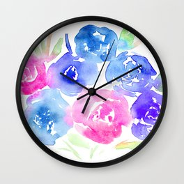 Spring bouquet || watercolor Wall Clock