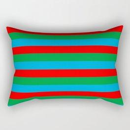 Azerbaijan flag stripes Rectangular Pillow