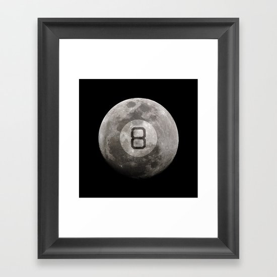 Magic 8 Ball Framed Art Print