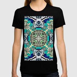 Abstract Turquoise Kaleidoscope T-shirt