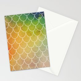 Hippy Mermaid Scales Stationery Cards