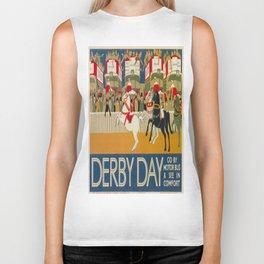 Vintage poster - Derby Day Biker Tank