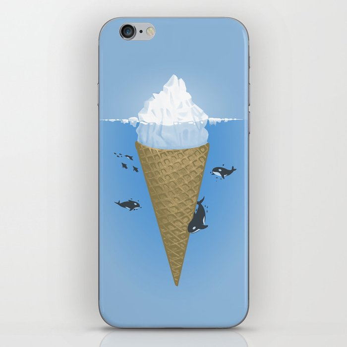 Hidden part of icebergs iPhone Skin