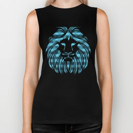 BE FEARLESS - BLUE Biker Tank