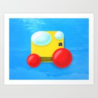 submarine Art Prints featuring Submarine by Bryan Keir