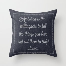 Jack Donaghy's throw pillow from 30 rock Throw Pillow