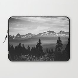 Morning in the Mountains Black and White Laptop Sleeve