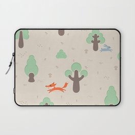 Fox running in the forest Laptop Sleeve