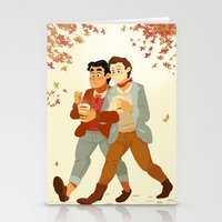 klaine Stationery Cards featuring Fall Klaine by CRAZiE-CRiSSiE