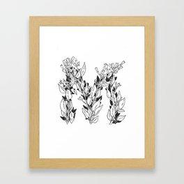 "Native Texas Plants ""M"" Framed Art Print"
