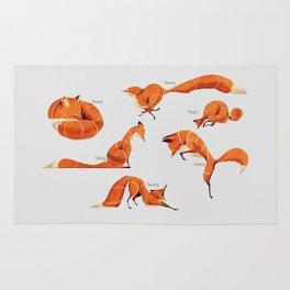 Fox poses Rug