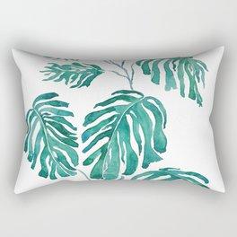 Monstera painting 2017 Rectangular Pillow