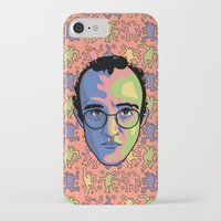 keith haring iPhone & iPod Cases featuring Haring by guissëpi