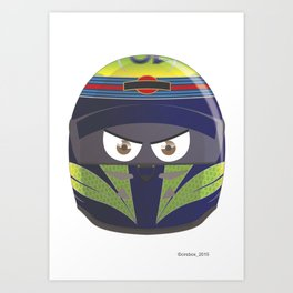 FELIPE MASSA_2014_HELMET #19 Art Print