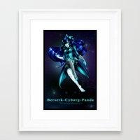 berserk Framed Art Prints featuring Berserk Cyborg Panda by Berserk Cyborg Panda