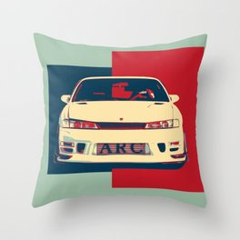 Nissan Silvia s14 Throw Pillow