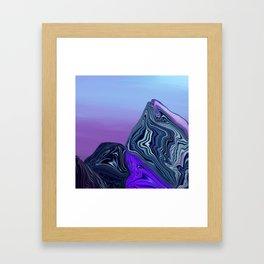 Smooth Blue Framed Art Print