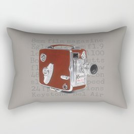Vintage Movie Camera Rectangular Pillow