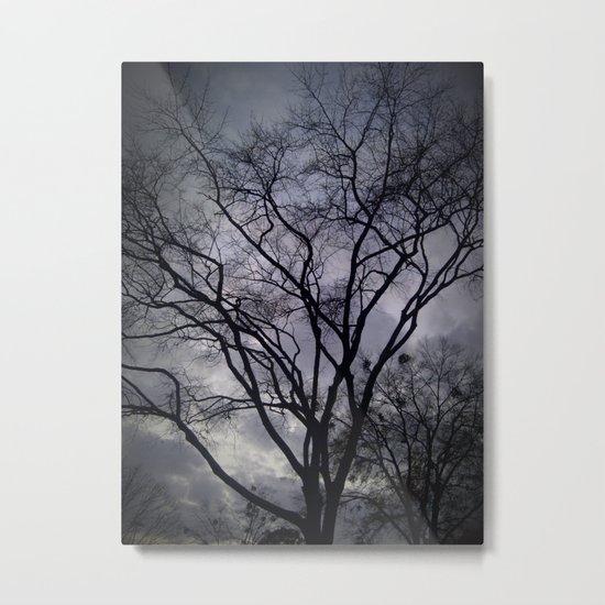 Haunted Sky and Trees Metal Print