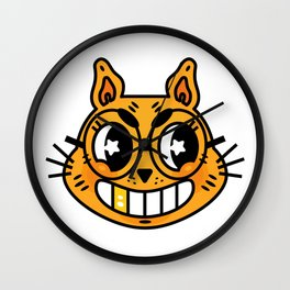 Mad Cat Wall Clock