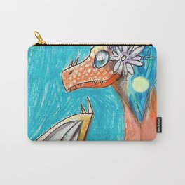 Dragon and Flowers Carry-All Pouch