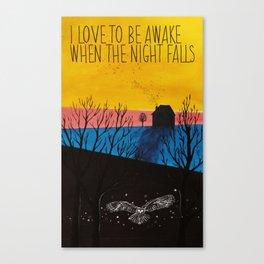 When the night falls Canvas Print