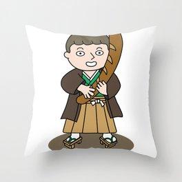 パリジャン侍 Throw Pillow
