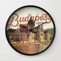 budapest Wall Clocks featuring Budapest by Amigo Vic