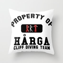 Property of Harga Cliff Diving Team Throw Pillow