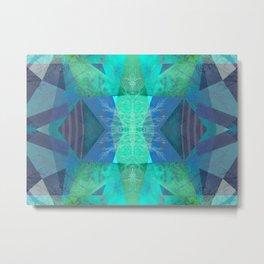 TURQUOISE BLUE PATTERN-19B Metal Print