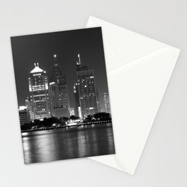 Cityscape (Black & White) Stationery Cards