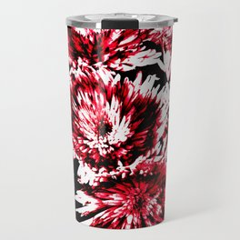 Red Black Abstract Flower Pattern  #Dahlias #Flowers Travel Mug
