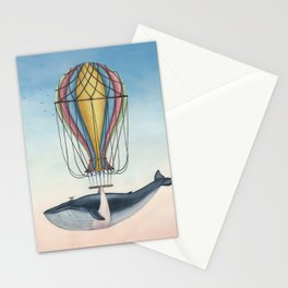Whale And Bird Stationery Cards