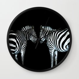 White on Black Wall Clock