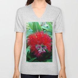 Liko Lehua - Budding Lehua Blossom Unisex V-Neck