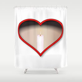 Love Candles Shower Curtain