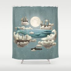 Ocean Meets Sky - colour option Shower Curtain