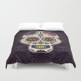 Sugar Skull Art Duvet Cover
