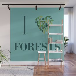 I heart Forests Wall Mural