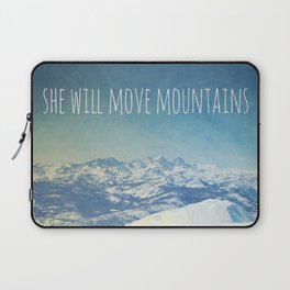 She will move mountains Laptop Sleeve