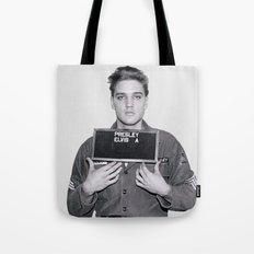 ELVIS PRESLEY - ARMY MUGSHOT Tote Bag