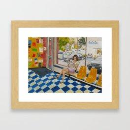 Hyde Park Laundromat Framed Art Print