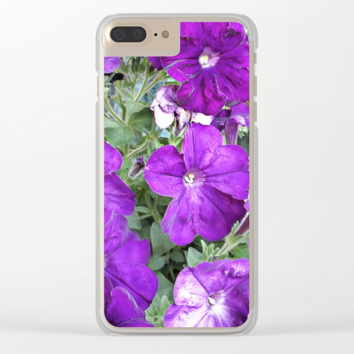 Petunias Clear iPhone Case