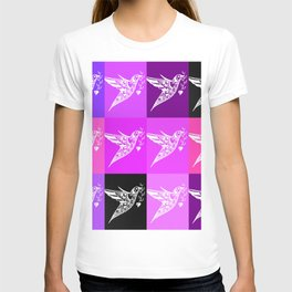 PInk ad purple prints with a love theme T-shirt
