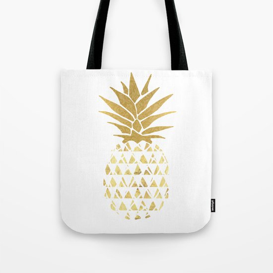 white & gold pineapple by anniemariedesigns