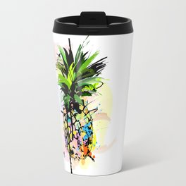 Abstract Watercolor Pineapple Travel Mug