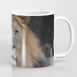 Male Lion Portrait Coffee Mug