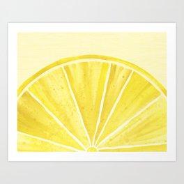 Lemony Goodness Art Print