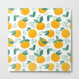 Creative citrus print. Add some vitamins to your life! :) Metal Print