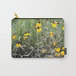 Upright Prairie Coneflower Carry-All Pouch